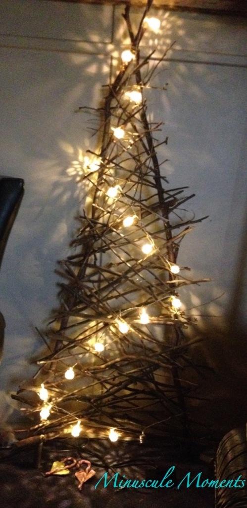Our Xmas Tree made of sticks